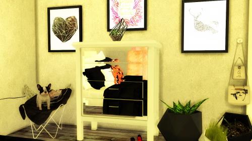 Mirrored Nightstand Dresser