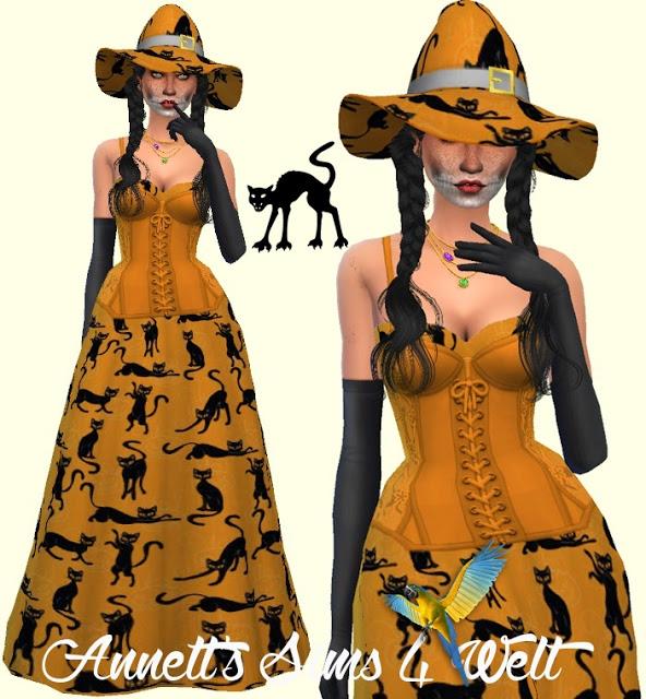 Halloween Dresses & Hats Part1 at Annett's Sims 4 Welt image 2352 Sims 4 Updates