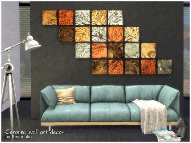 Ceramic Wall Art Decor At Sims By Severinka