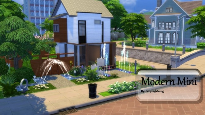 Sims 4 Modern Mini 2/1 house by babynightsong at Mod The Sims