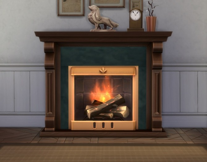 Sims 4 Victoriette Fireplace by plasticbox at TSR