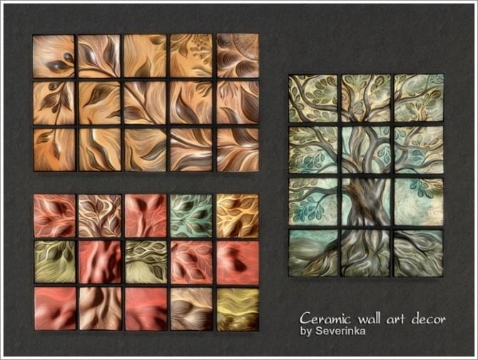 Sims 4 Ceramic wall art decor at Sims by Severinka