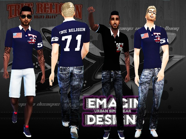 Polo Shirts Men by emagin360 at TSR image 267 Sims 4 Updates