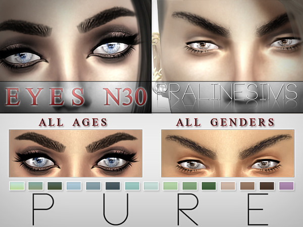 Sims 4 Pure Eyes N30 by Pralinesims at TSR