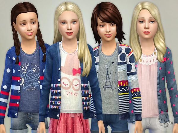 Sims 4 Pretty Cardigan P3 by lillka at TSR