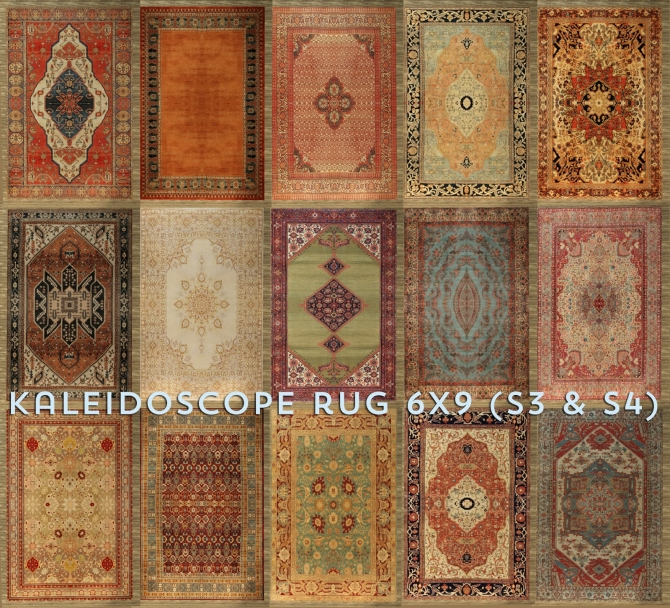 Kaleidoscope Large Rug At Baufive B5studio 187 Sims 4 Updates