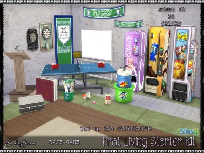 Sims 4 Frat Living Starter Kit at SrslySims