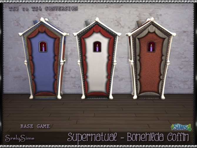Sims 4 Supernatural Bonehilda Coffin at SrslySims