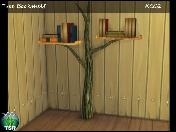 Sims 4 Tree BookShelf by XCC at TSR