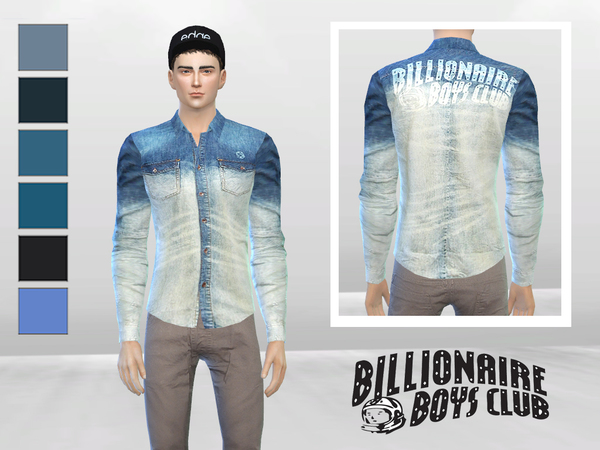 Light Years Denim Shirt by McLayneSims at TSR image 322 Sims 4 Updates