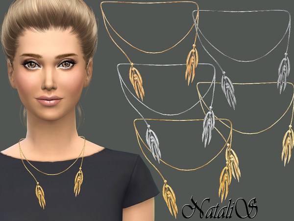 Thorn like tassel necklace by NataliS at TSR image 328 Sims 4 Updates