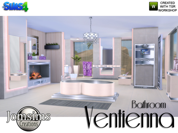 Sims 4 Ventienna Modern Bathroom by jomsims at TSR