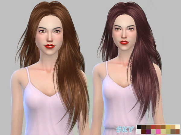 Sims 4 Mnik Hair 273 by Skysims at TSR