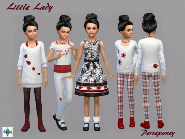 Sims 4 Little Lady Set by Persephaney at TSR