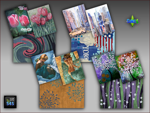 4 sets including a rug and two paintings at Arte Della Vita image 337 Sims 4 Updates