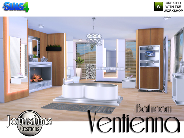 Ventienna Modern Bathroom by jomsims at TSR image 3410 Sims 4 Updates