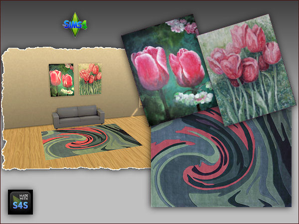 4 sets including a rug and two paintings at Arte Della Vita image 347 Sims 4 Updates