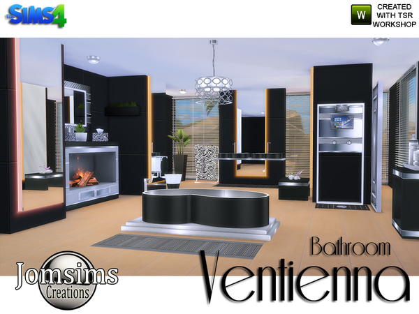Ventienna Modern Bathroom by jomsims at TSR image 3510 Sims 4 Updates