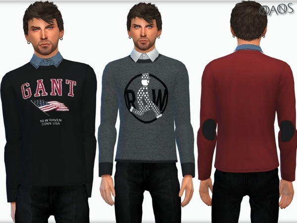 Shirt With Sweaters by OranosTR at TSR image 352 Sims 4 Updates