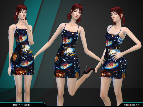 Sims 4 Galaxy Dress by SIms4Krampus at TSR