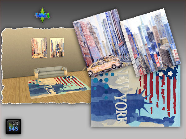 4 sets including a rug and two paintings at Arte Della Vita image 357 Sims 4 Updates