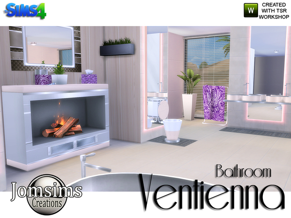 Ventienna Modern Bathroom by jomsims at TSR image 3610 Sims 4 Updates