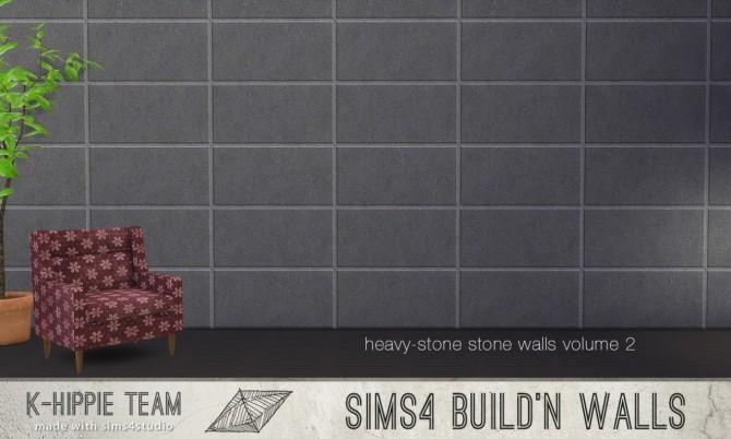 Sims 4 7 Stone Walls Heavystone volume 2 at K hippie