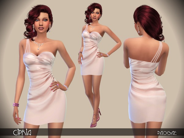 Cipria dress by Paogae at TSR image 362 Sims 4 Updates
