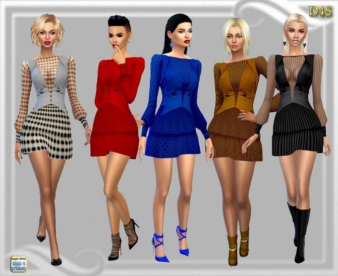 Sims 4 Sentate Cara Dress at Dreaming 4 Sims