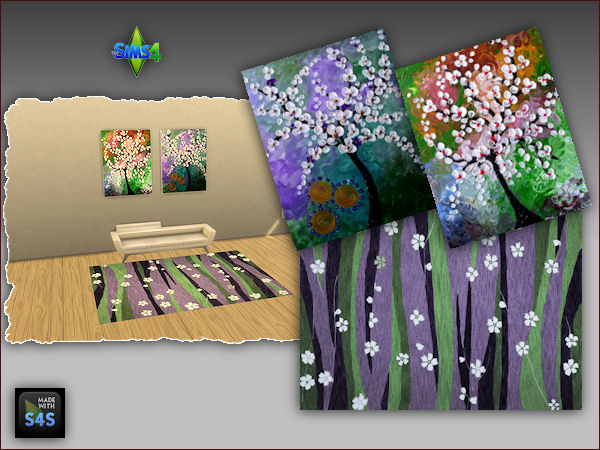 4 sets including a rug and two paintings at Arte Della Vita image 367 Sims 4 Updates