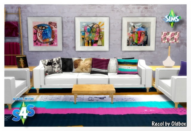 Sims 4 Marcussims91 livingroom convert/recolor by Oldbox at All 4 Sims