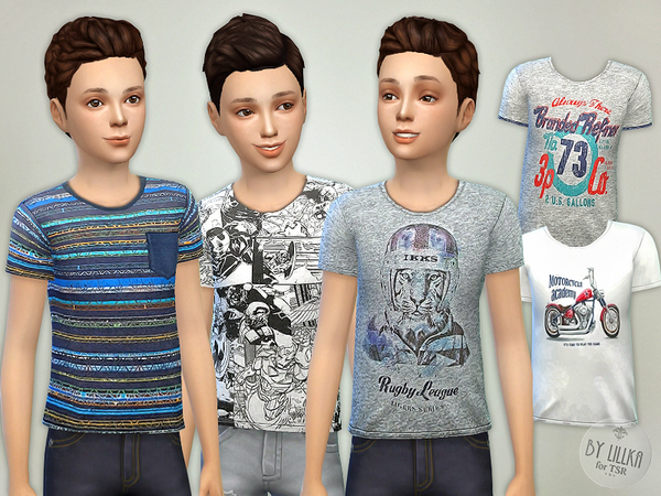 Sims 4 T  Shirt Collection for Boys P05 by lillka at TSR