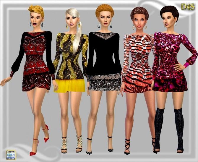 Sims 4 Dropback short dress at Dreaming 4 Sims
