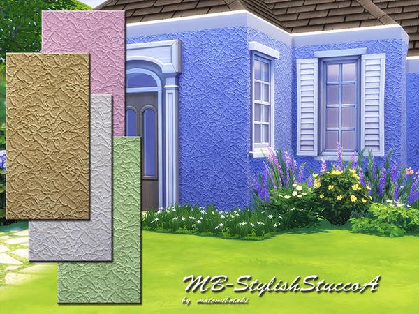 Sims 4 MB Stylish Stucco A by matomibotaki at TSR