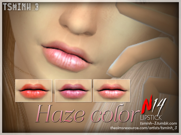 Sims 4 Haze Color Lipstick by tsminh 3 at TSR