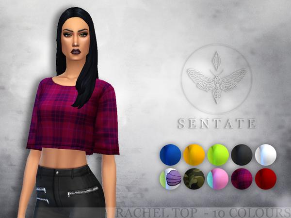 Sims 4 Rachel Tee by Sentate at TSR