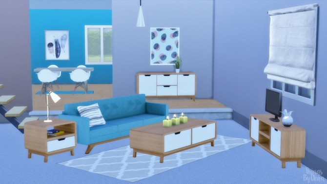 Retro Hallway, Coffee and End Table + TV Cabinet at THINGSBYDEAN image 4107 670x377 Sims 4 Updates
