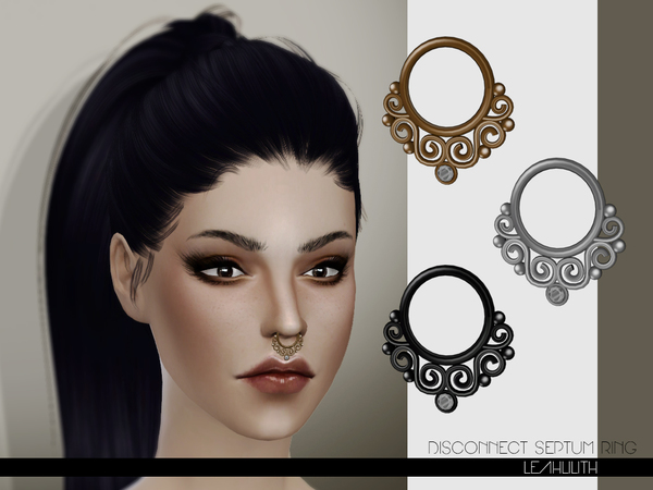 Sims 4 Disconnect Septum Ring by Leah Lilith at TSR