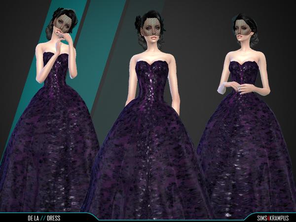 De La Dress by SIms4Krampus at TSR image 4219 Sims 4 Updates