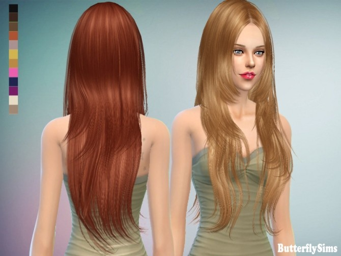 Sims 4 B fly hair 018CF NO hat (Pay) at Butterfly Sims