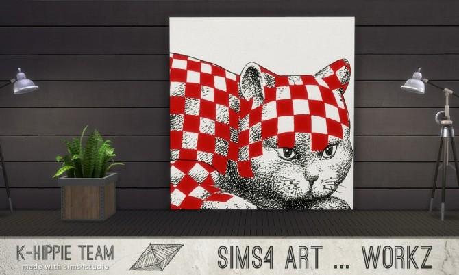 Sims 4 7 Artworks Ceramik Serie volume 1 at K hippie