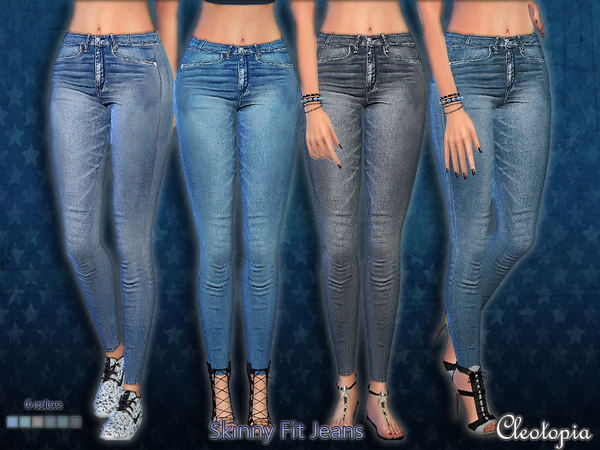 Skinny Fit Jeans by Cleotopia at TSR image 4516 Sims 4 Updates