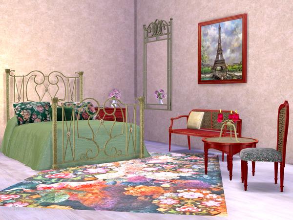 Sims 4 Paris Bedroom by ShinoKCR at TSR