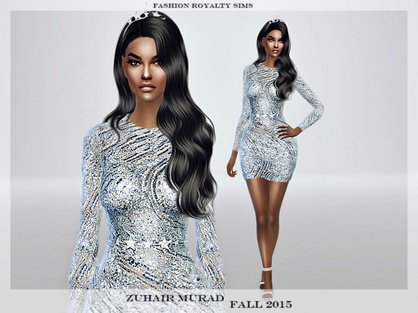Glitter Light Blue Dress by FashionRoyaltySims at TSR image 4713 Sims 4 Updates