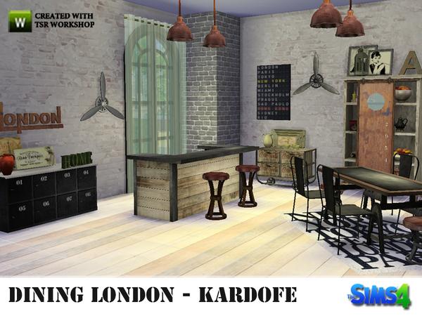 London Dining by kardofe at TSR image 4717 Sims 4 Updates