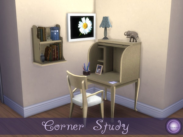 Corner Study by D2Diamond at TSR image 478 Sims 4 Updates