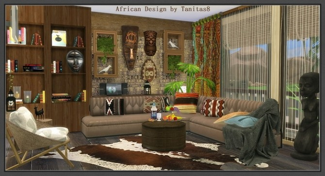 African Design House At Tanitas8 Sims 187 Sims 4 Updates