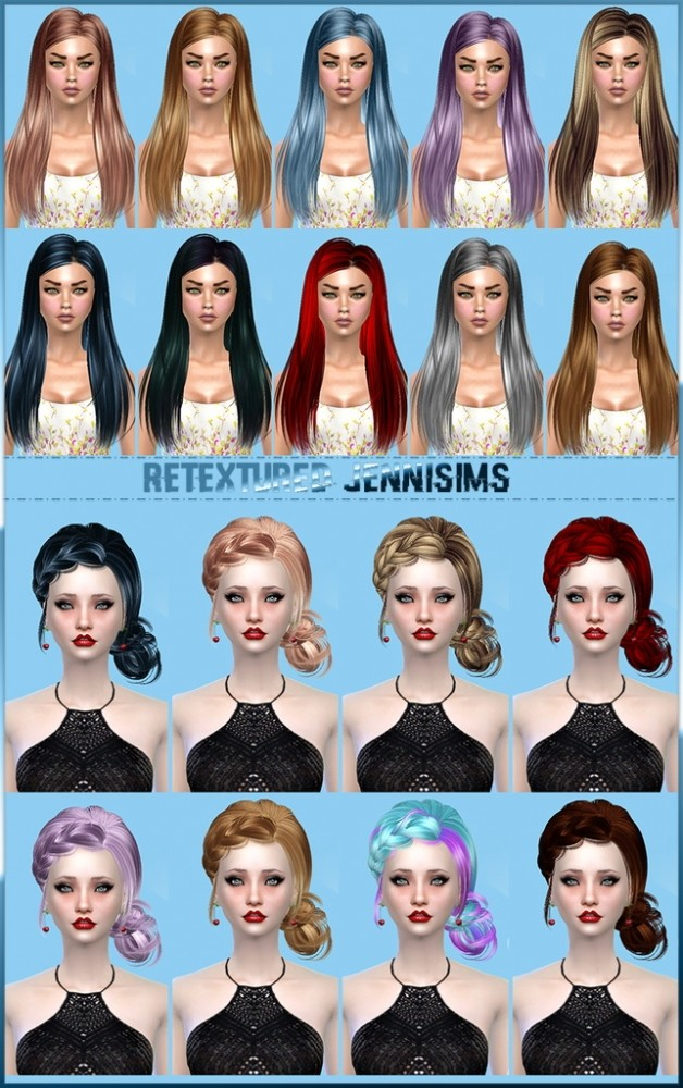 Sims 4 Butterflysims Hair 092, 143 retextured at Jenni Sims