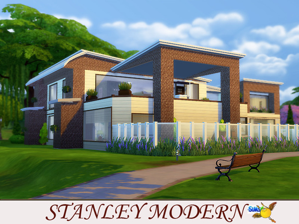Sims 4 Stanley modern house by evi at TSR