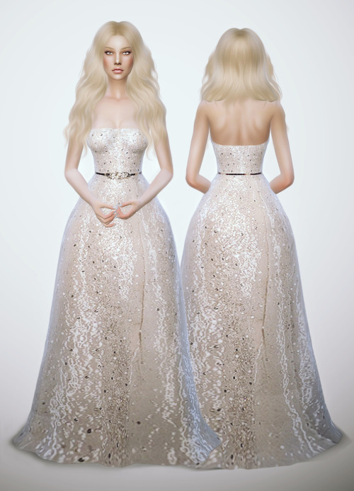 Glitter White Dress At Fashion Royalty Sims 187 Sims 4 Updates